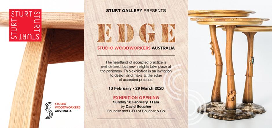 Thirston's Upcoming Exhibition - EDGE – Exploring Boundaries- Studio Woodworkers Australia. Sturt Gallery, 16 February - 29 March 2020